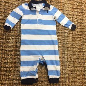 Polo Ralph Lauren blue & white onesie 9M
